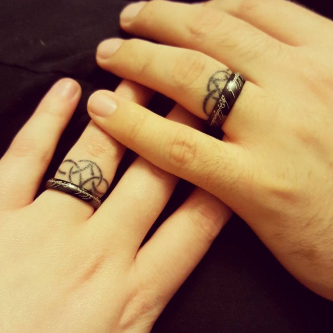 wedding ring tattoo wedding ring tattoo 14 - Wedding Ring Finger Tattoos