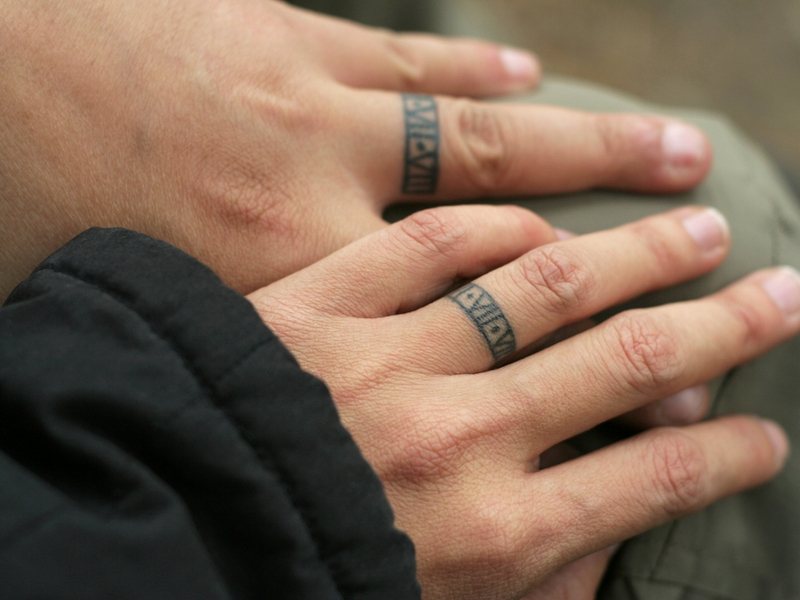 Wedding bands tattoo designs