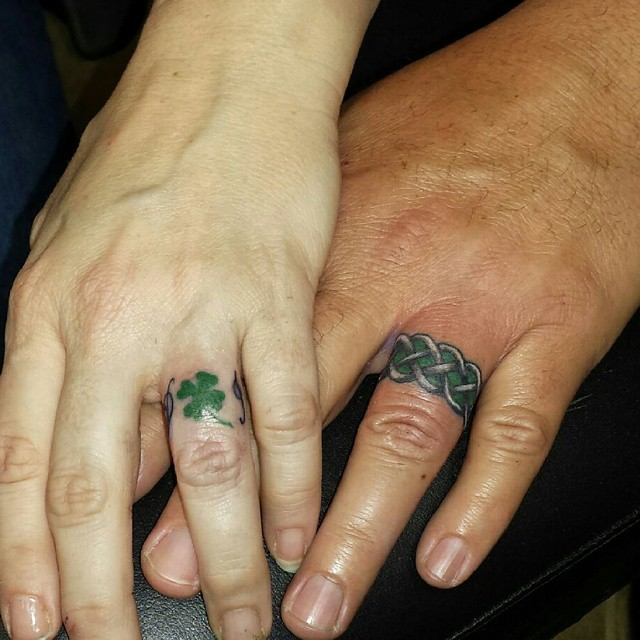 wedding ring tattoo 6 - Wedding Ring Finger Tattoos