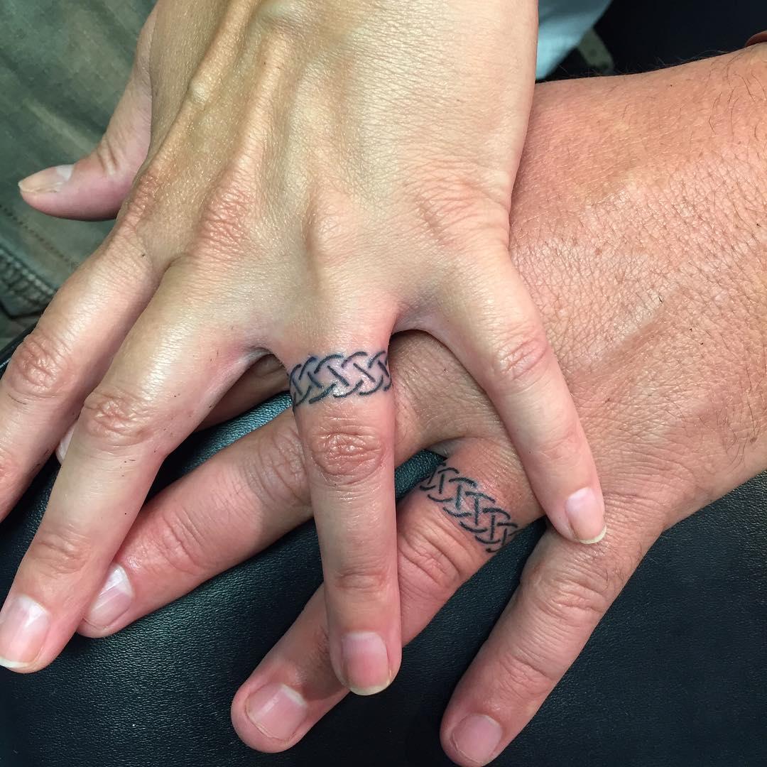 55 romantic wedding ring finger tattoo designs and ideas - Wedding Ring Tattoo 9