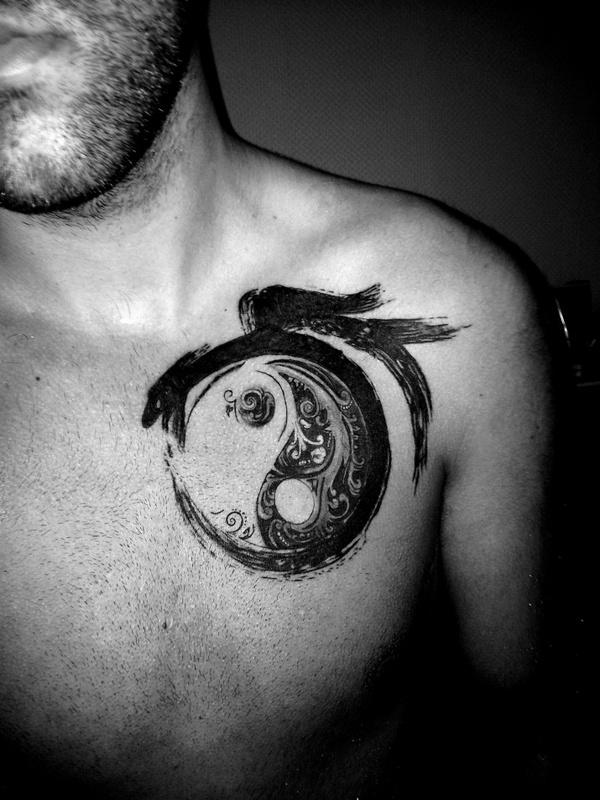 45 creative images of yin yang tattoos. Black Bedroom Furniture Sets. Home Design Ideas
