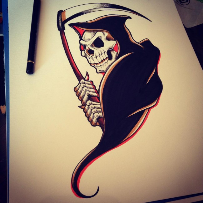 Grim Reaper Tattoos