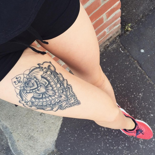 thigh tattoos