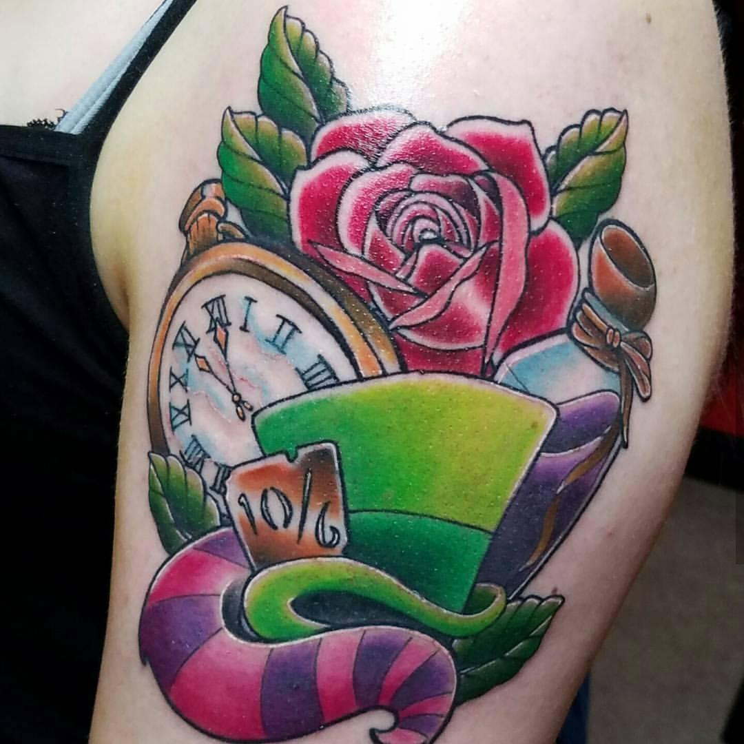105+ Fairy Alice in Wonderland Tattoo - Designs & Ideas 2018
