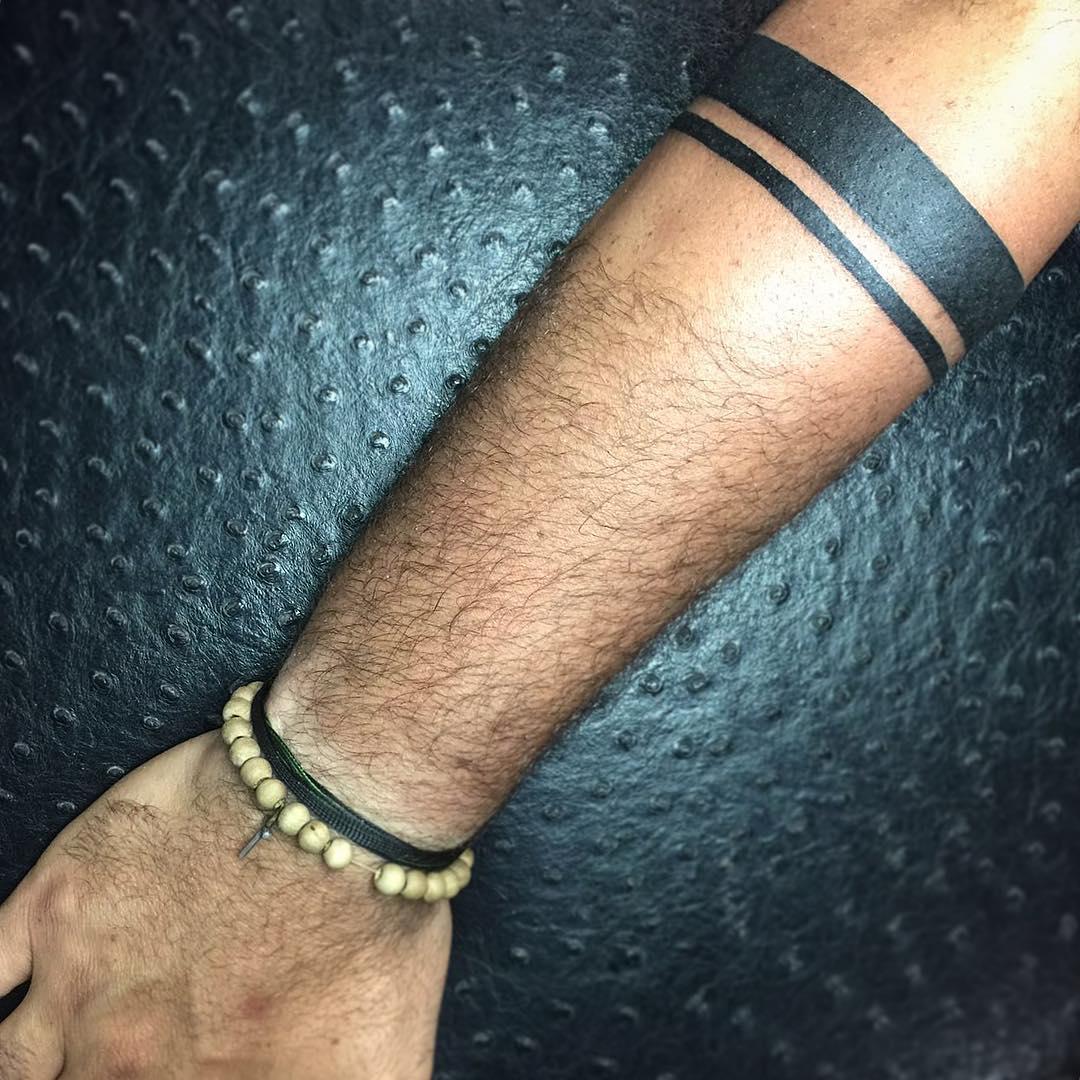 Мужская татуировка браслет фото