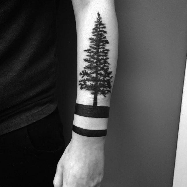 Tattoo bracelet homme avant bras