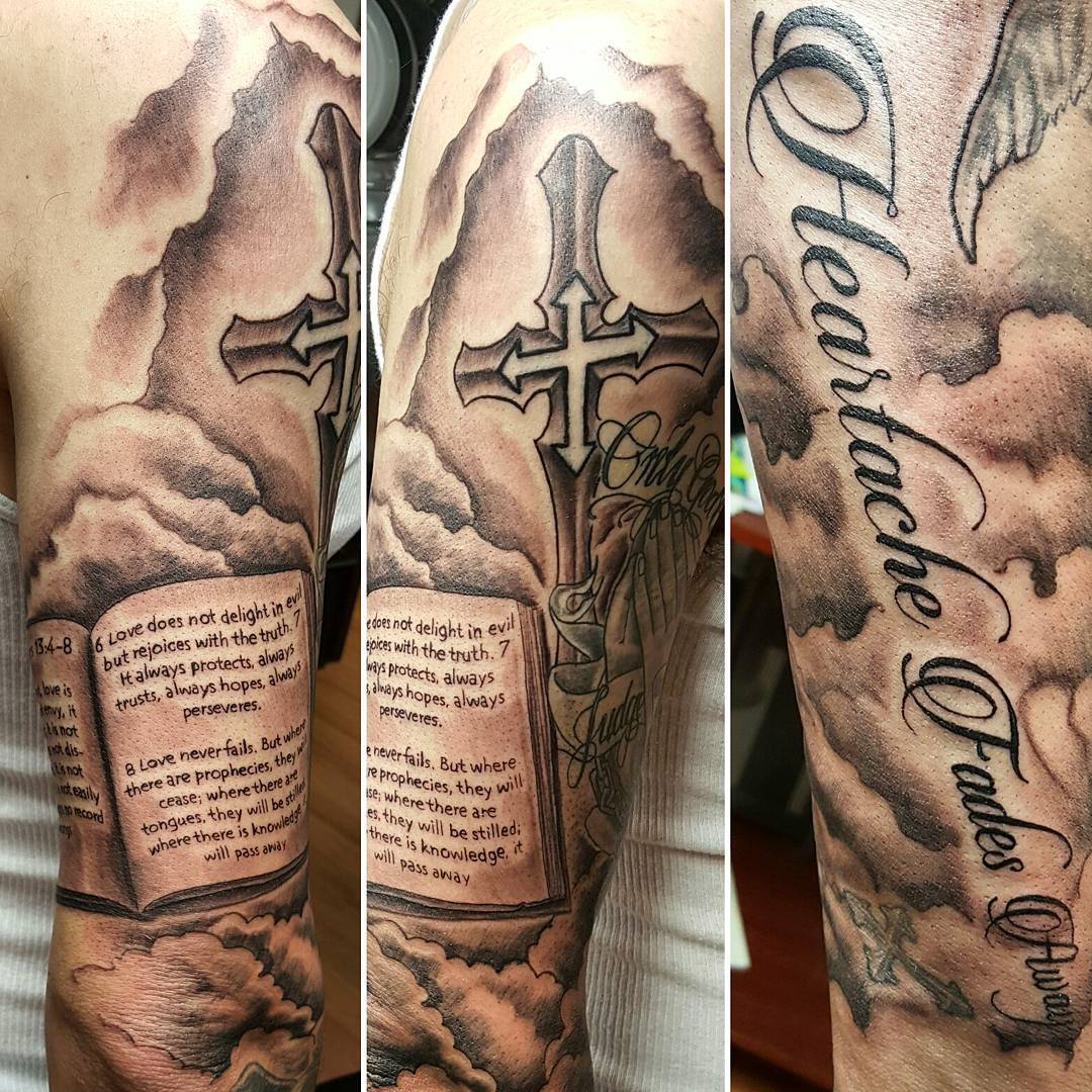 Biblical Quote Tattoos Designs Bible Quote Tattoo On Thigh: 75 Best Bible Verses Tattoo Designs