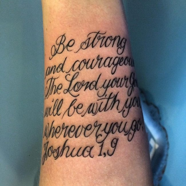 Bible Quote Tattoos: 75 Best Bible Verses Tattoo Designs