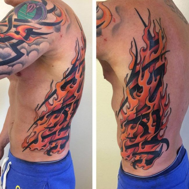85+ Flame Tattoo Designs & Meanings - For Men and Women (2019)