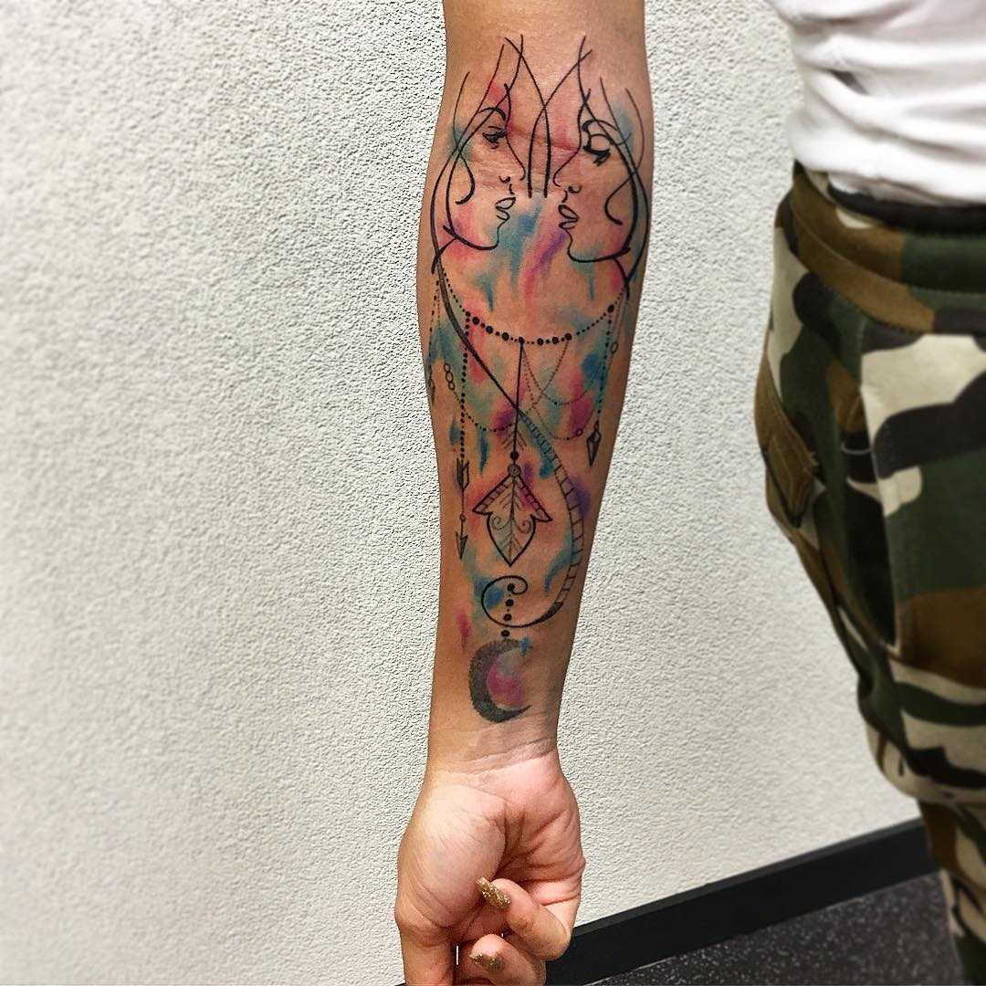 50 Best Gemini Tattoo - Designs And Ideas For Men & Women (2019)