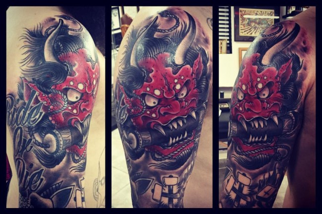 Japanese mask tattoos (1)