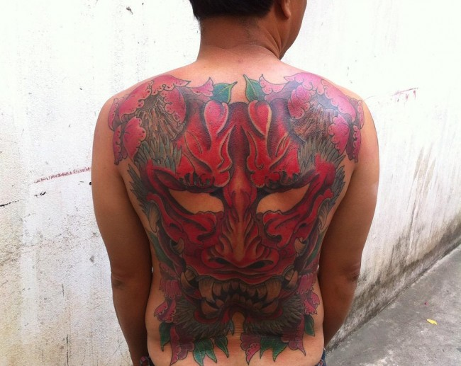Japanese mask tattoos (3)