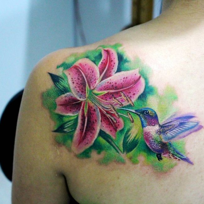 80 Lily Flower Tattoo Designs Meaning Tenderness Luck 2018