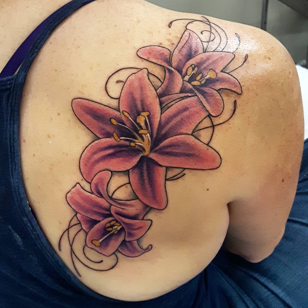 Chinese Lily Tattoos