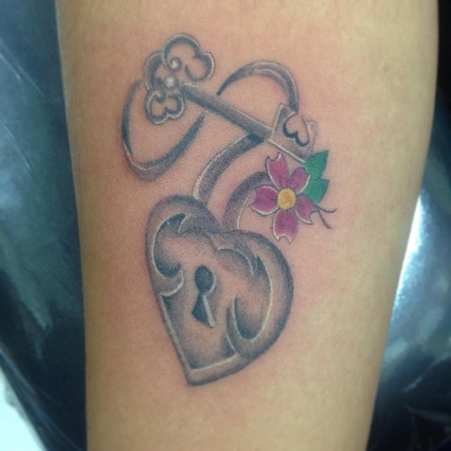 Lock and Key Tattoos (3)