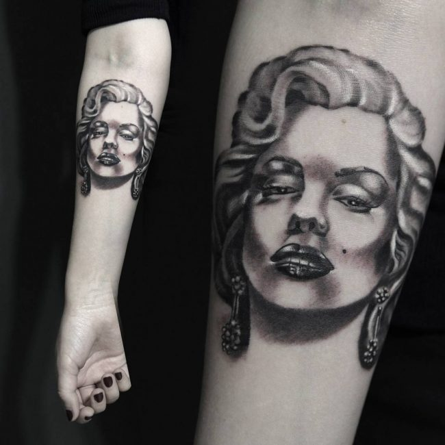 Marilyn Monroe Tattoos