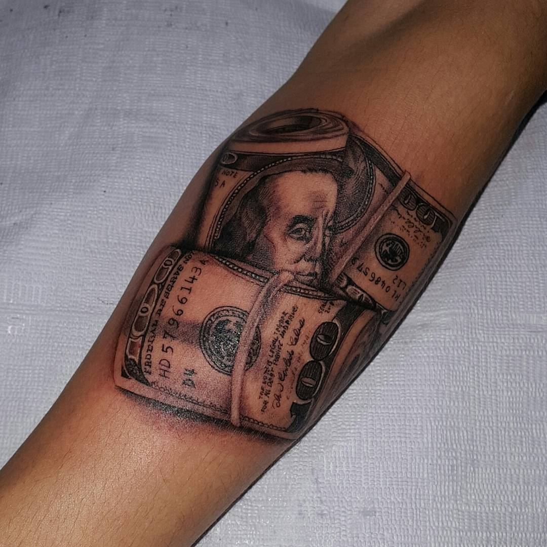 75 best money tattoo designs meanings get it all 2018 for How much is a prinker tattoo