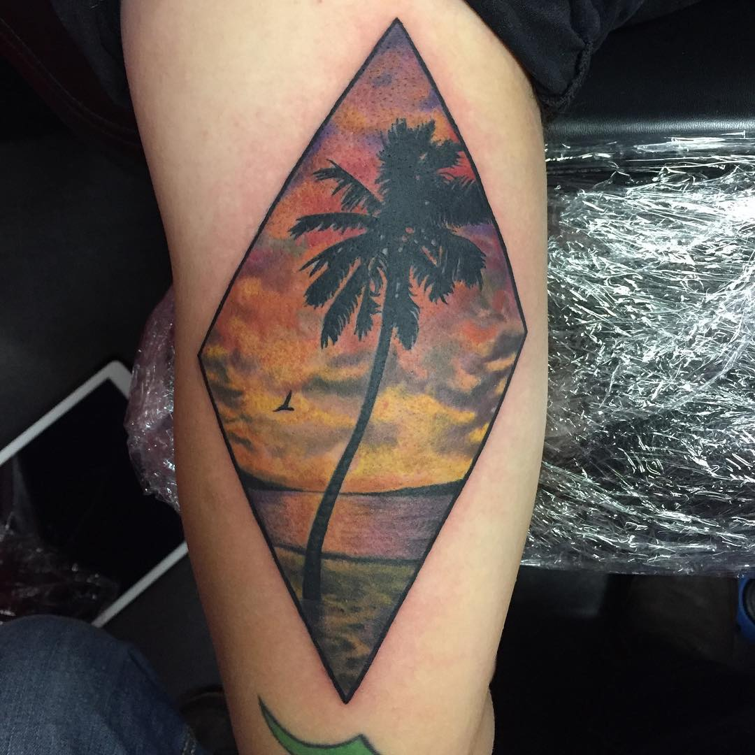 120 best palm tree tattoo designs and meaning ideas of 2018. Black Bedroom Furniture Sets. Home Design Ideas