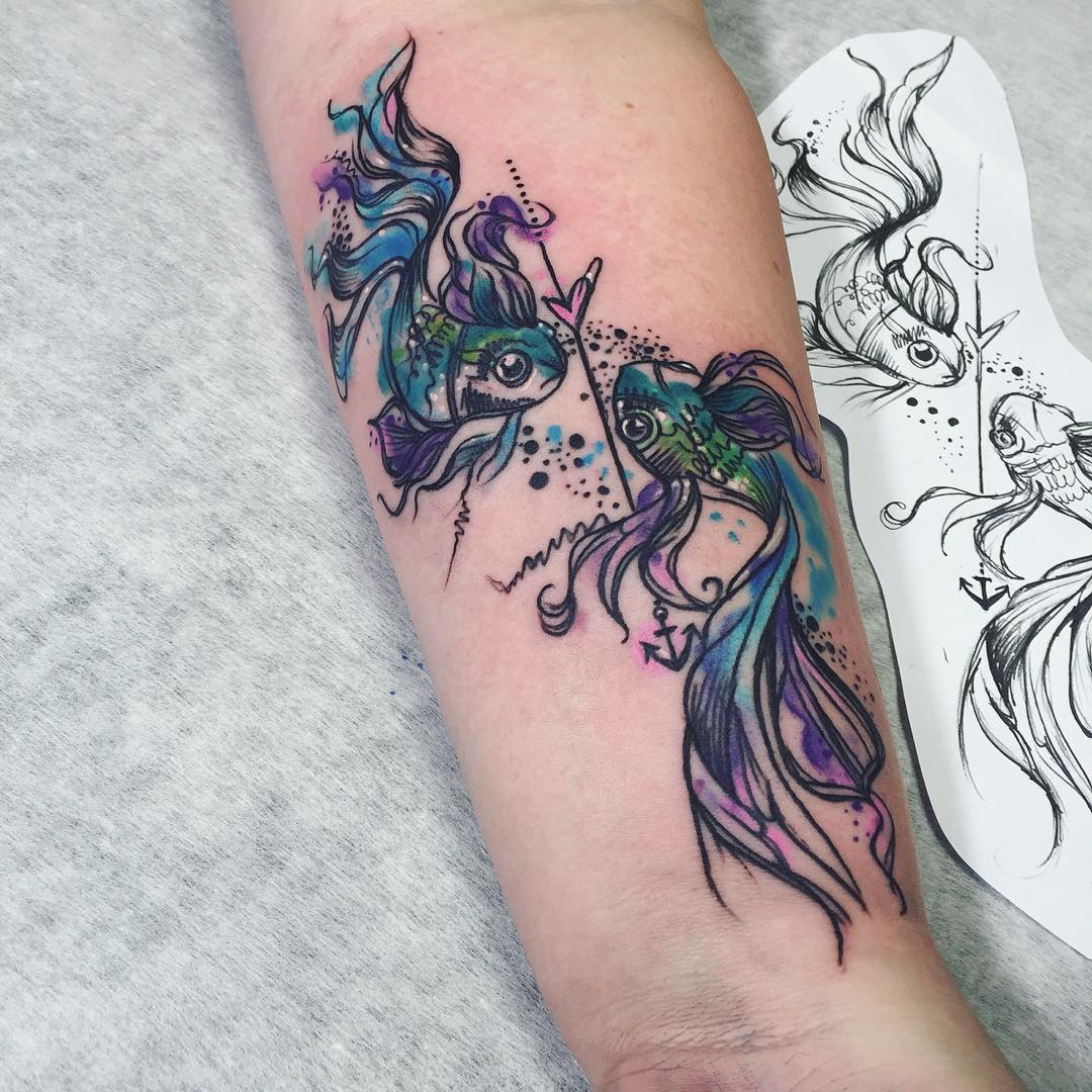 30 Gorgeous Pisces Designs and Ideas One In