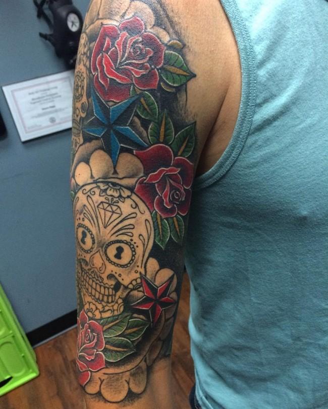 Sugar Skull Tattoos (1)