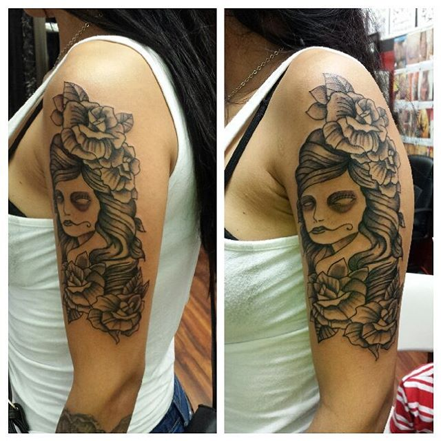 Sugar Skull Tattoos (2)