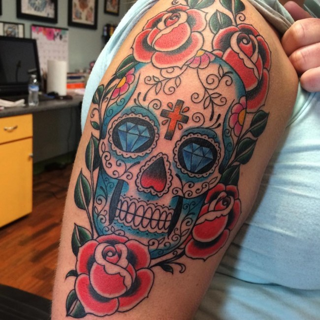 Sugar Skull Tattoos (4)