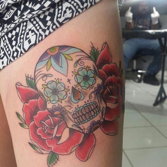 Sugar Skull Tattoos (5)