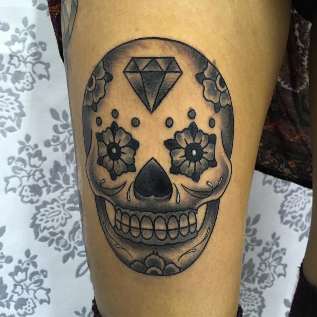Skull Tattoos: 125+ Best Sugar Skull Tattoo