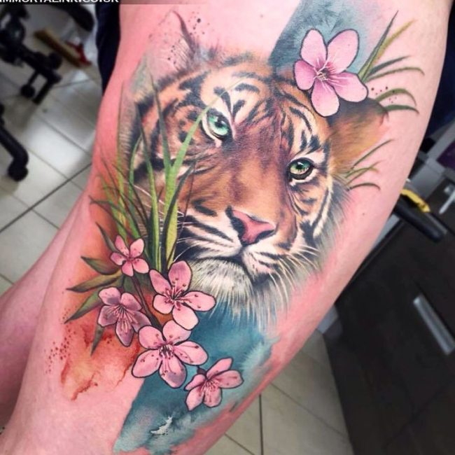 40 stunning tiger tattoos for Tiger tattoo for girl