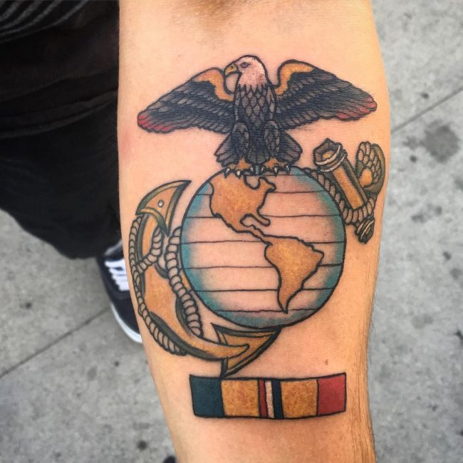 1870672d3 75 Cool USMC Tattoos - Meaning, Policy and Designs (2019)