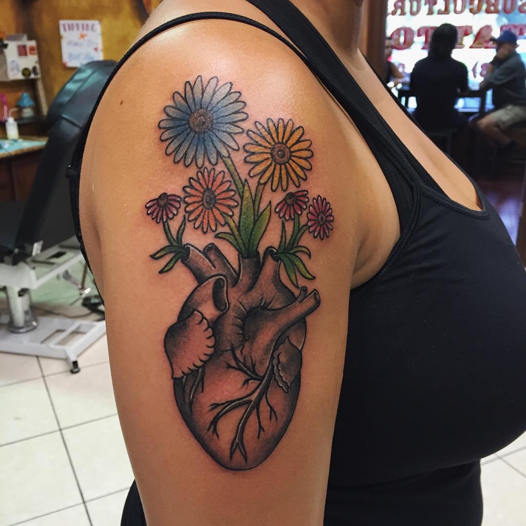 Heart Tattoo Designs 110+ Best Anato...