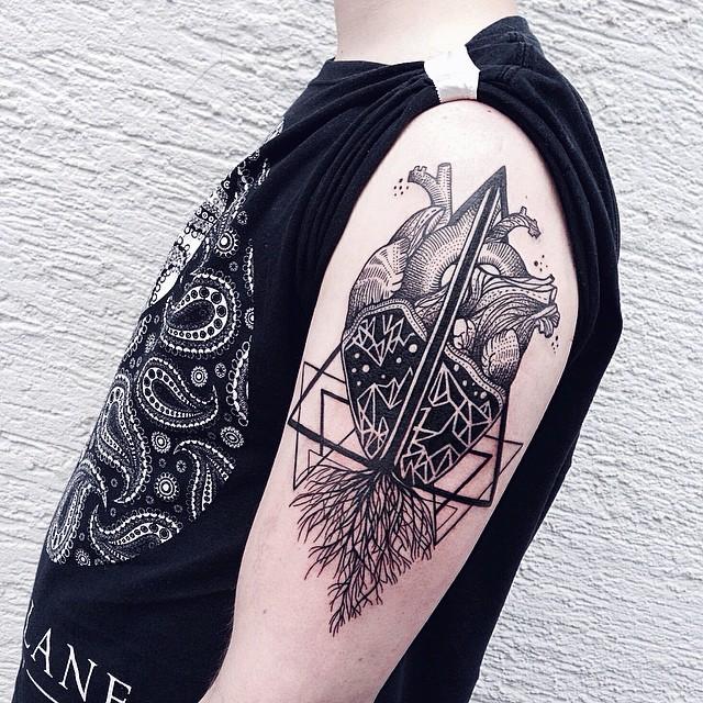 anatomical heart tattoos