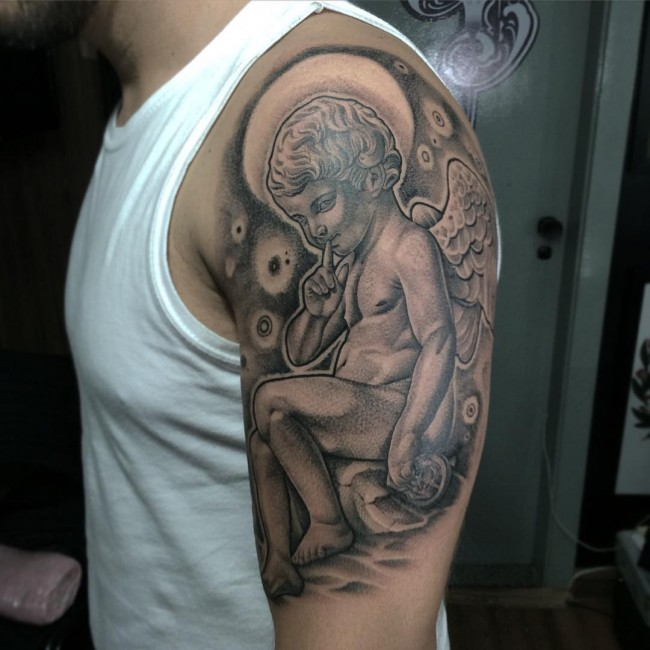 110 Best Guardian Angel Tattoos Designs Meanings 2018