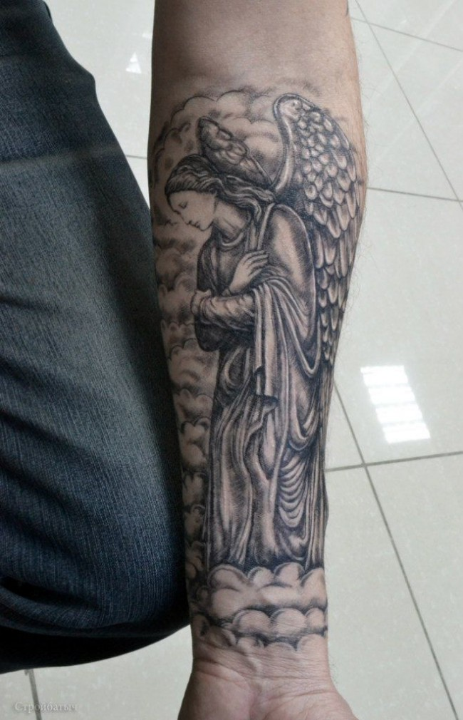 Sexy guardian angel tattoo