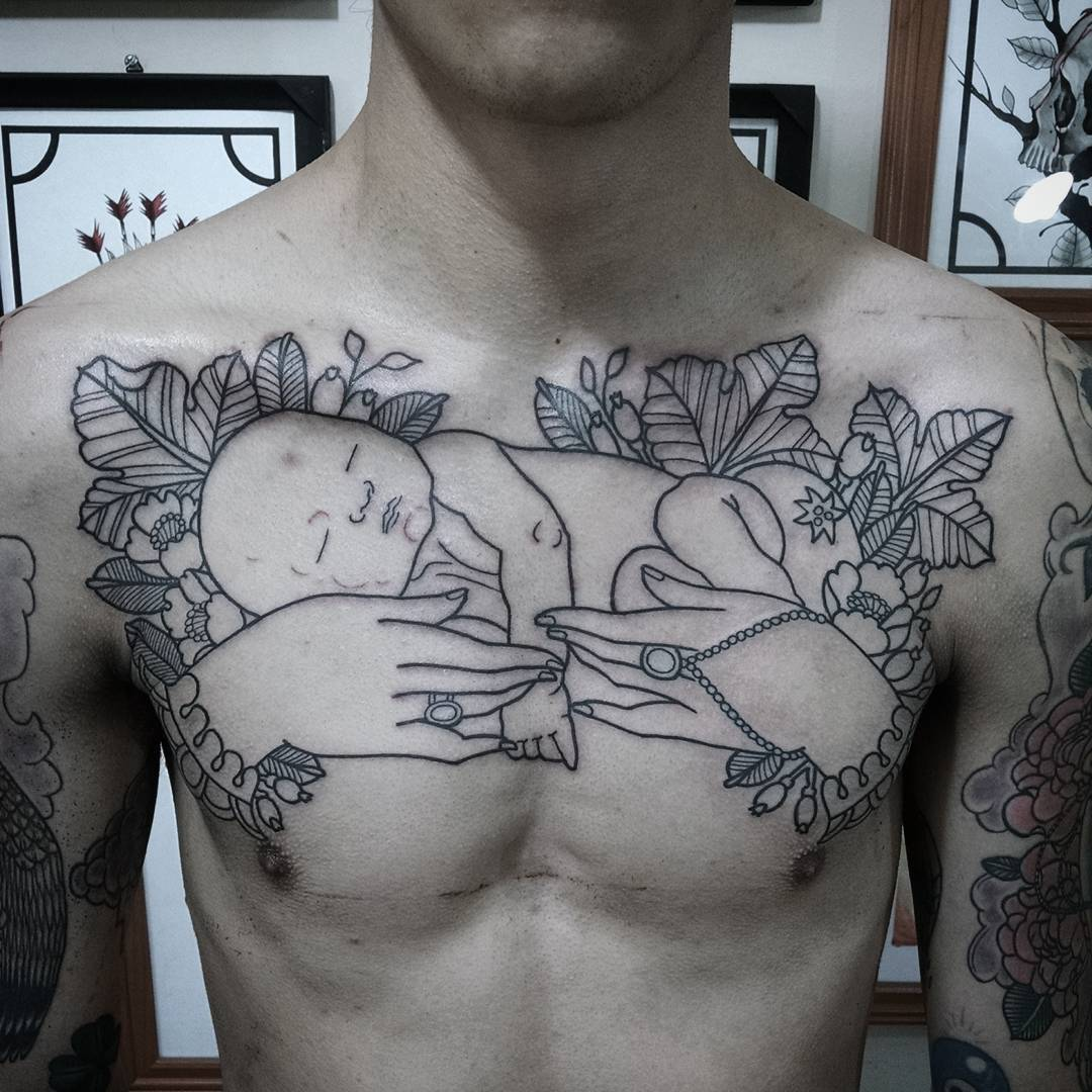 55+ Best Baby Tattoos Designs & Meanings   Cute and Meaningful