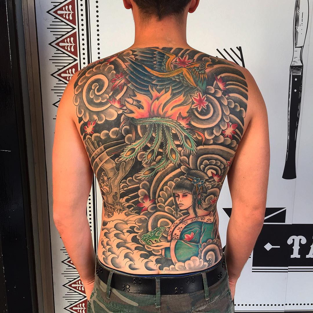 110 back tattoo designs for men women designs for Whole back tattoos