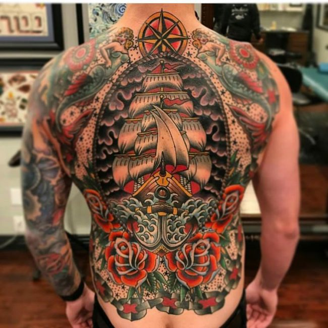 90 Superb Back Tattoo Designs