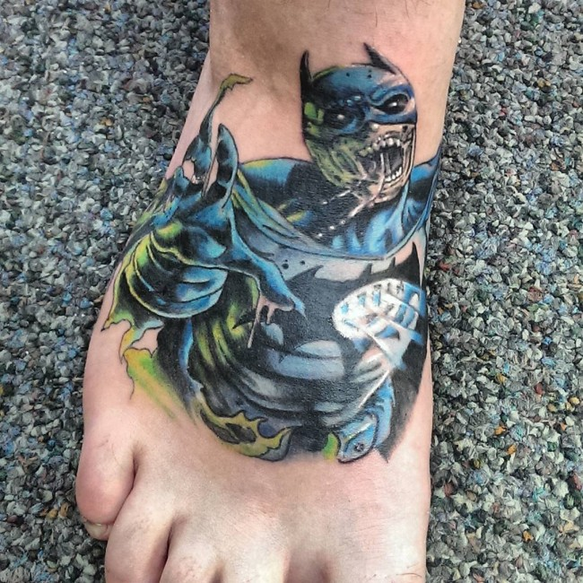 75 Cool Foot And Flip Flop Tattoos: 25 Best Batman Tattoo Designs
