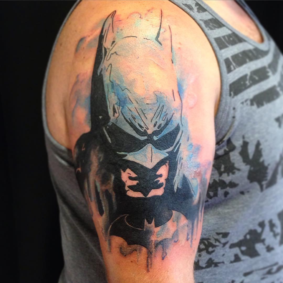 100 best batman symbol tattoo ideas comic superhero 2018. Black Bedroom Furniture Sets. Home Design Ideas
