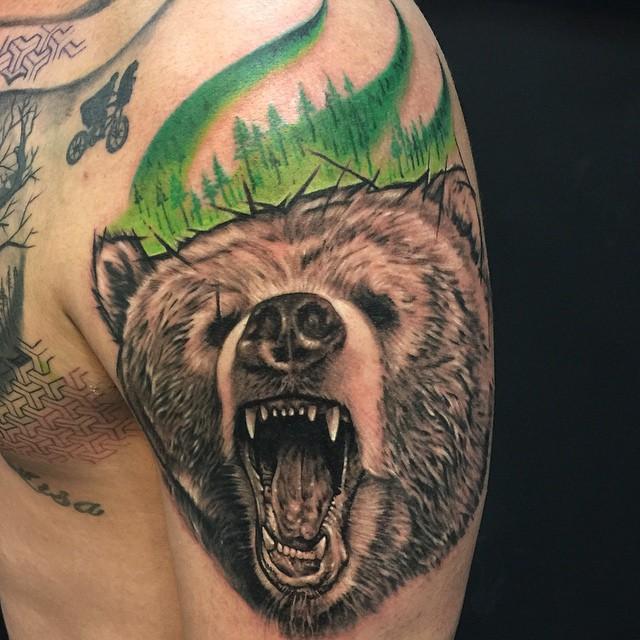 65 best bear tattoos. Black Bedroom Furniture Sets. Home Design Ideas