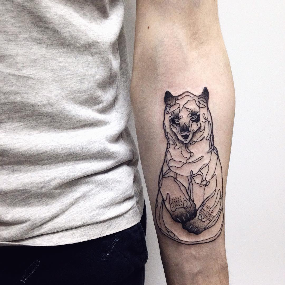 bd1928730646d 85+ Rough Bear Tattoo Designs & Meanings - Feel The Wild Nature (2019)