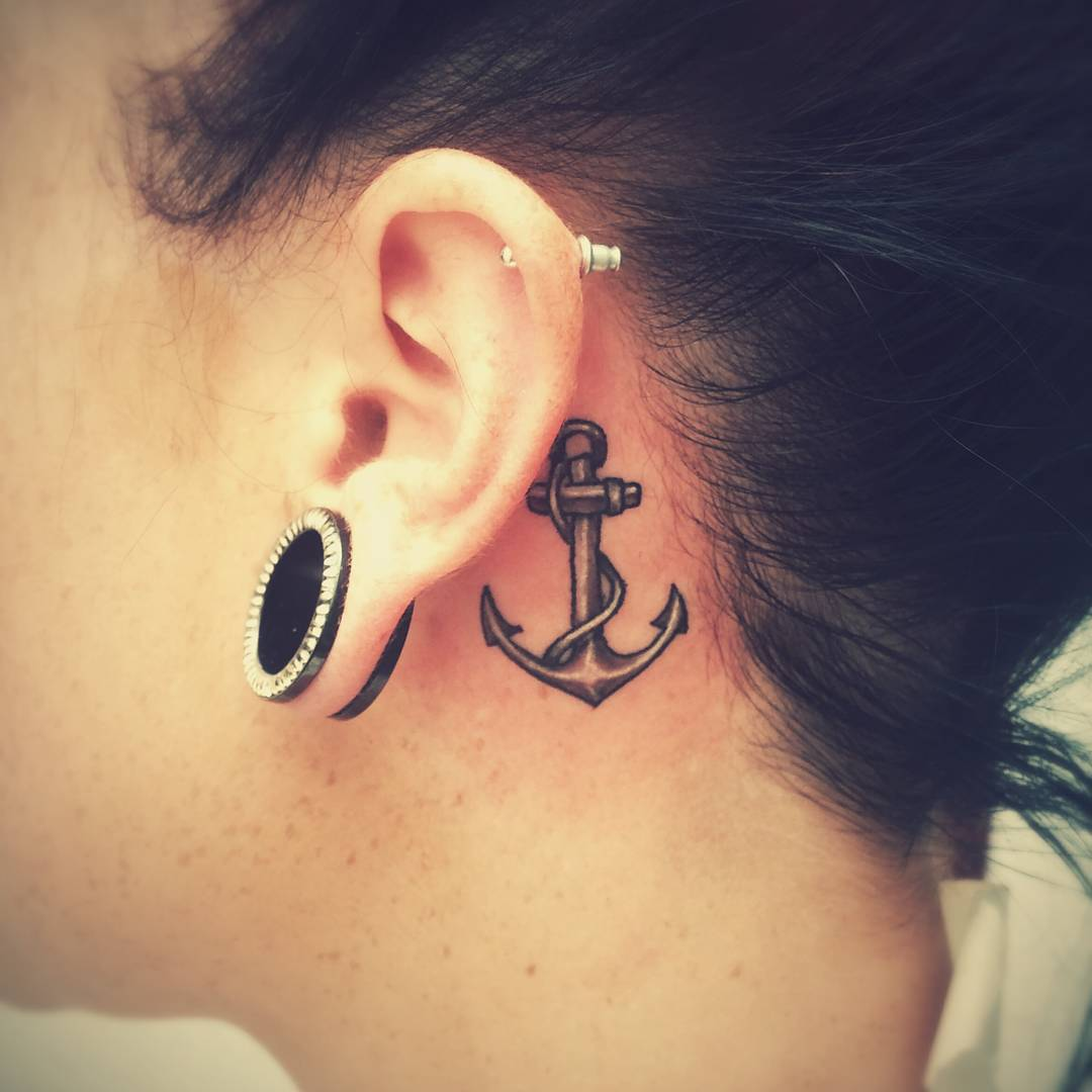 33 Stunning Behind The Ear Tattoos: 35 Unusual Behind The Ear Tattoos