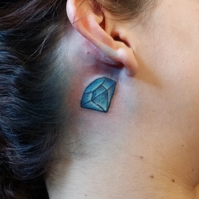 behind the ear tattoos