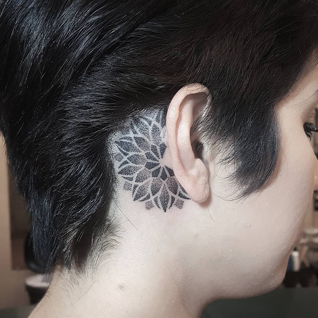 pictures of tattoos behind the ear