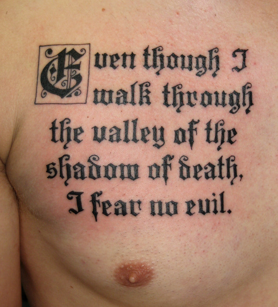 Bible Quote Tattoos: 25 Nobel Bible Verses Tattoos