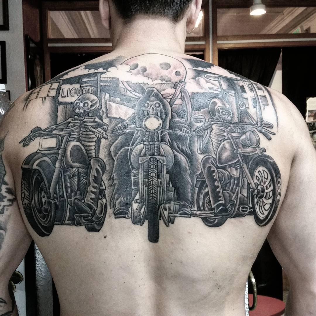 Biker And Harley Davidson Tattoos: 85+ Best Biker Tattoo Designs & Meanings