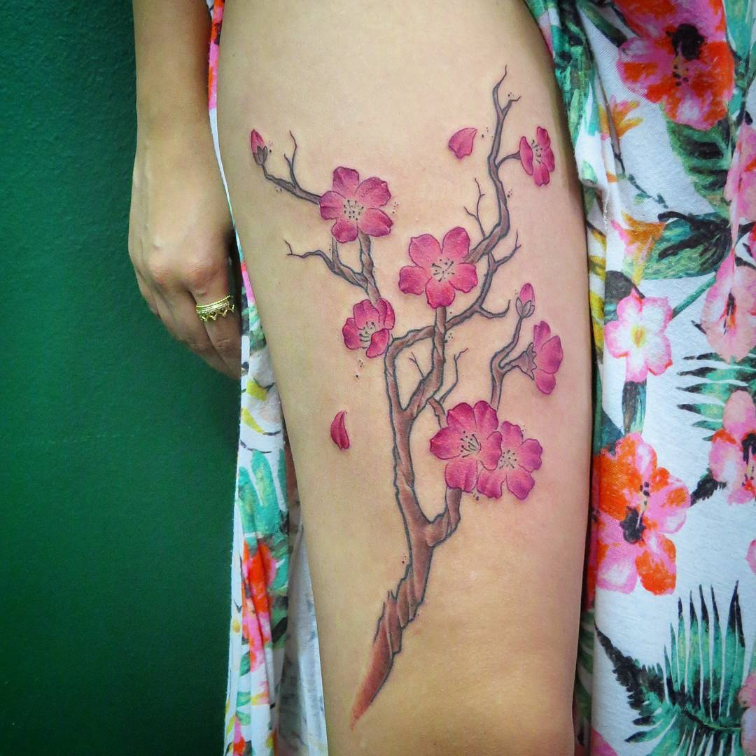 55 Fantastic Cherry Blossom Tattoos