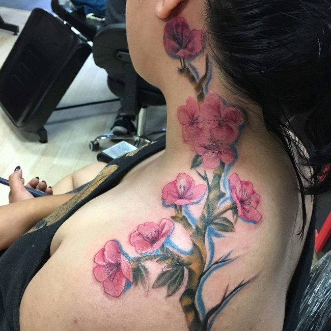 cherry blossom tattoos (2)