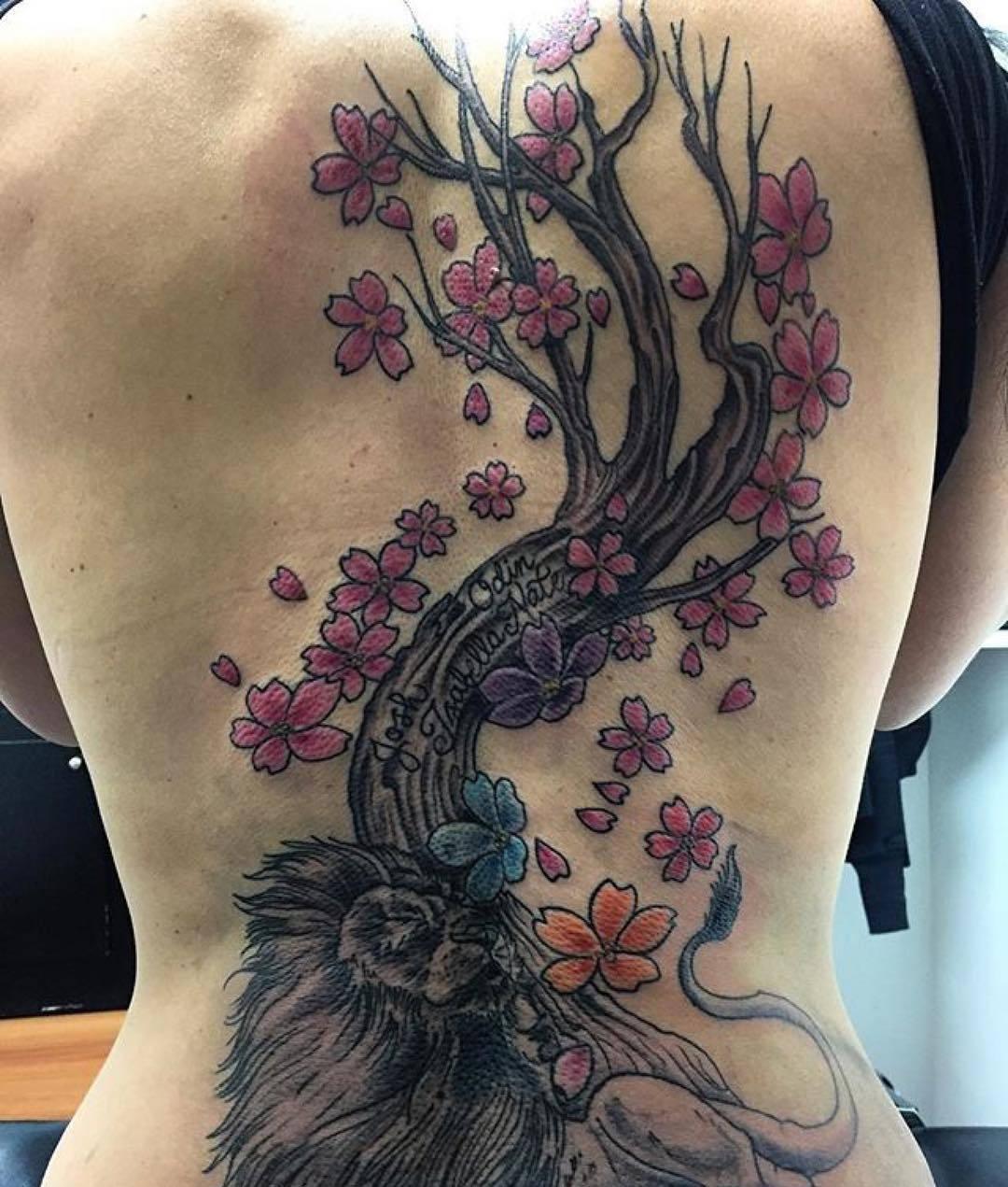 Tattoo Quotes Cherry Blossom: 75+ Best Japanese Cherry Blossom Tattoo