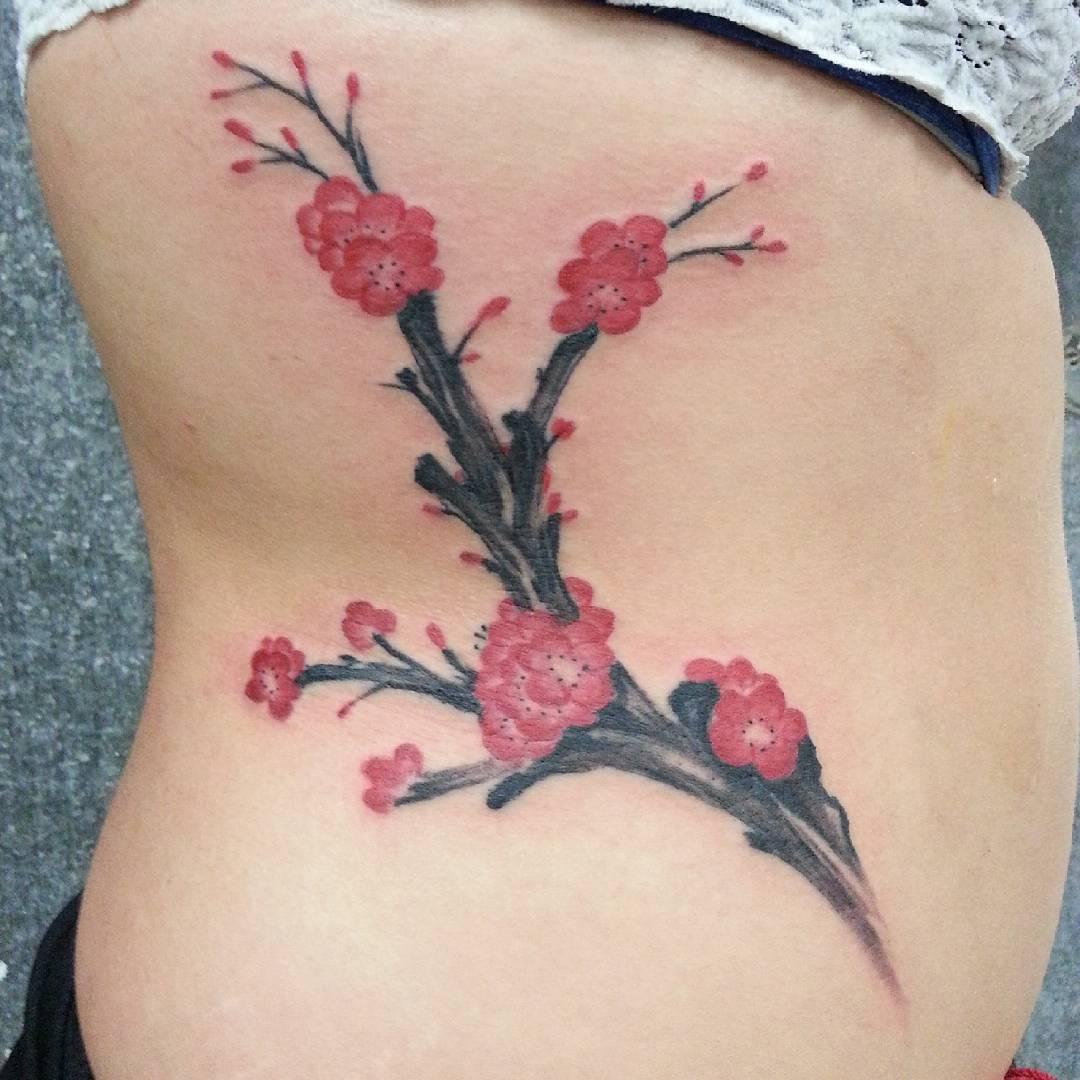 75+ Best Japanese Cherry Blossom Tattoo - Designs ...